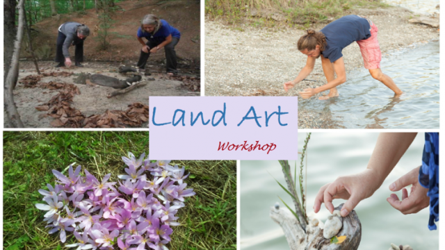 4 Bilder aus einem Land Art Workshop